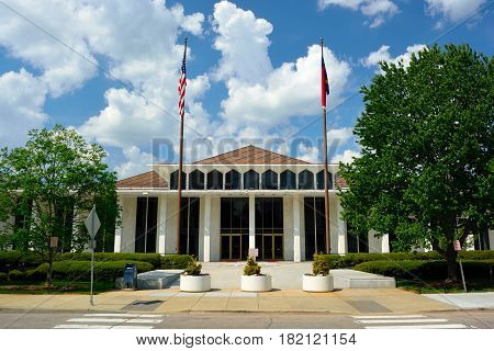 North Carolina State Legislative Building on a Sunny Day