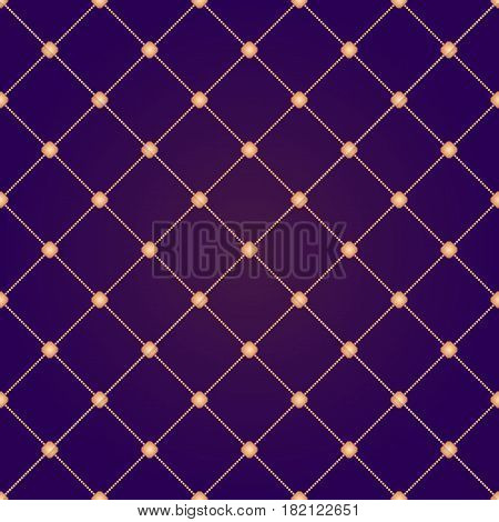 Seamless abstract modern pattern with golden elements. Geometric repeating luxury ornament with golden diagonal square for wallpapers or backgrounds.