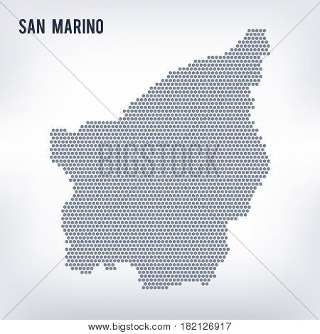 Vector hexagon map of San Marino. Business space in the country