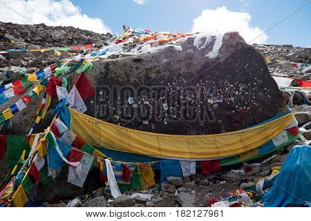 Dorma la pass Kailash Yatra travel to TIBET China Kailas - the holiest mountain of Tibet. Object of pilgrimage of buddhist, hindu, jains and adepts of bon religion. Home of the Lord Shiva.