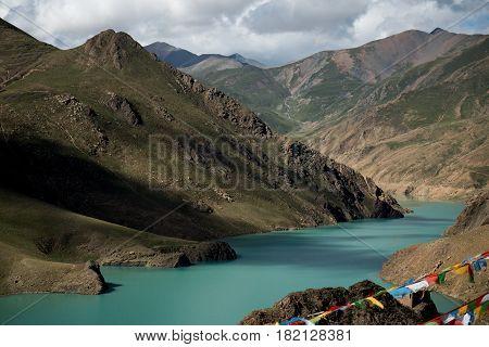Mountain lake Manasarovar lies at 4, 590 metres above mean sea level. Manasarovar is said to be the worlds highest freshwater lake.