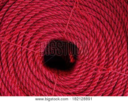 Red Rope In Piles At The Market
