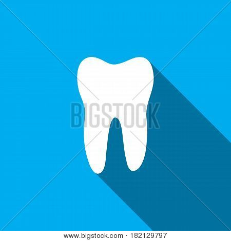 Teeth icon dentist flat vector sign symbol. For mobile user interface