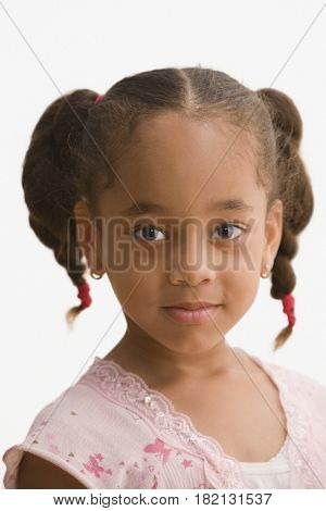 Close up of African girl