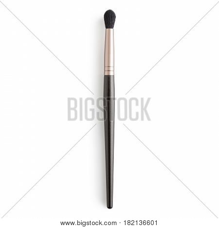 Makeup Brush Isolated On White Background. Eyeshadow Brush. Foundation Powder Brush. Studio Retracta