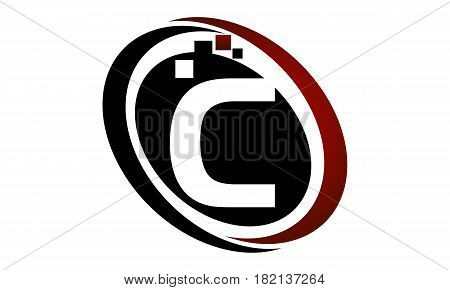 This vector describe about Technology Logo Motion Synergy Initial C
