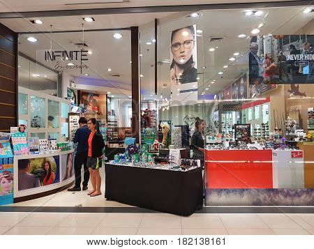 BANGKOK THAILAND - MARCH 30 : Infinit Eyewear at Central Chaengwattana department store on March 30 2017 in Bangkok Thailand.