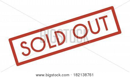 Sold Out Icon On White Background, Flat Style.