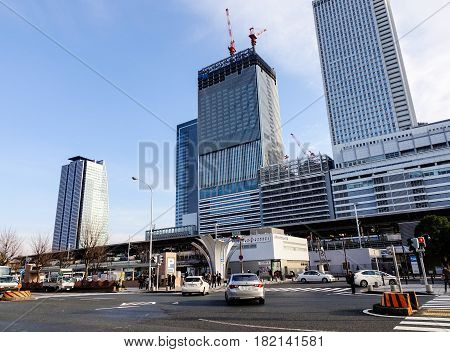 Modern Buildings At Downtown In Tokyo, Japan