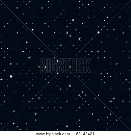 Night sky and stars, simple seamless vector pattern