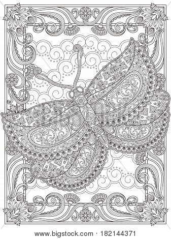 Graceful Adult Coloring Page
