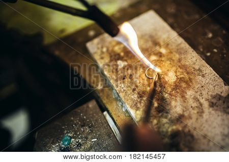 Creation of a ring the traditional way