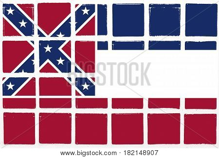 Glazed tiles mississippi flag design  square mosaic