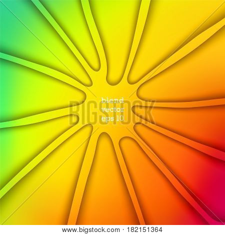 colourful background. Abstract volumetric structure of smooth elements. Vector illustration