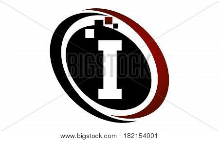 This vector describe about Technology Logo Motion Synergy Initial I