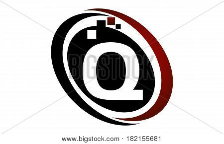 This vector describe about Technology Logo Motion Synergy Initial Q