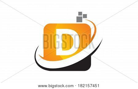 This vector describe about Technology Motion Synergy Letter D
