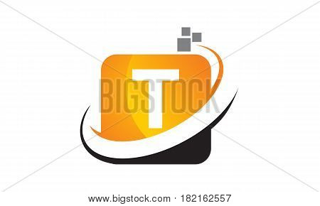 This vector describe about Technology Motion Synergy Letter T