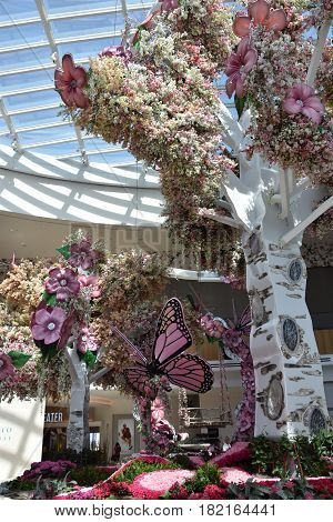 OXON HILL, MD - APR 16: Conservatory at the  MGM Resort and Casino at National Harbor in Oxon Hill, Maryland, as seen on April 16, 2017. It opened at National Harbor on December 8, 2016.