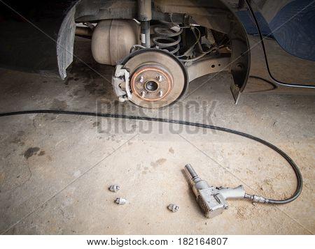 workshop car change Wheel Repair mechanic Tool