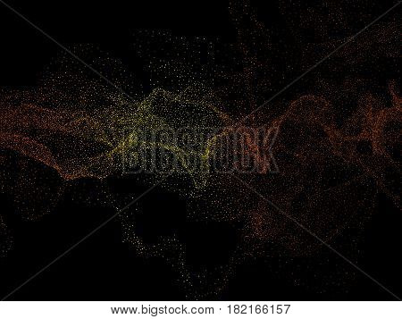 Gold glittering star dust trail sparkling particles on black background, Vector illustration