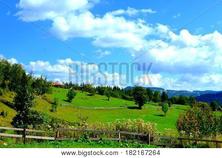 Landscape in Apuseni Mountains, Transylvania.The Apuseni Mountains is a mountain range in Transylvania, Romania, which belongs to the Western Romanian Carpathians, also called Occidentali in Romanian. The Apuseni Mountains have about 400 caves.