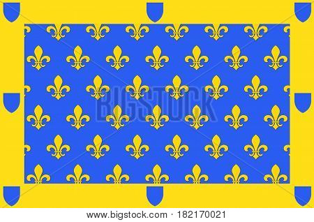Flag of Ardeche is a departement in the Auvergne-Rhone-Alpes region of south-central France