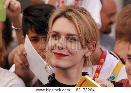 Giffoni Valle Piana Sa Italy - July 16 2016 : Elena Radonicich at Giffoni Film Festival 2016 - on July 16 2016 in Giffoni Valle Piana Italy