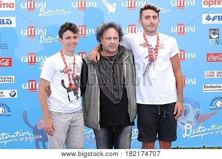 Giffoni Valle Piana Sa Italy - July 19 2016 : Enzo Avitabile at Giffoni Film Festival 2016 - on July 19 2016 in Giffoni Valle Piana Italy