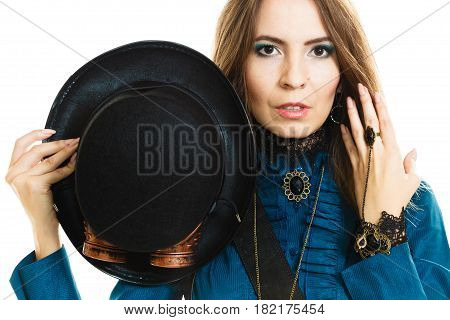 Steampunk Stylished Girl With Hat