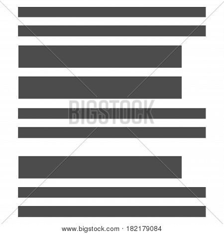 Barcode vector pictograph. Illustration style is a flat iconic grey symbol on a white background.