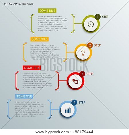 Info graphic with abstract round labels template vector eps 10