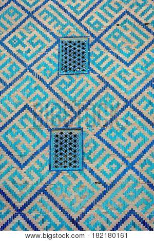 Window At Samarkand Registan, Uzbekistan