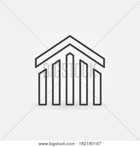 Real estate icon. Vector minimal house and property sign or logo element in thin line style
