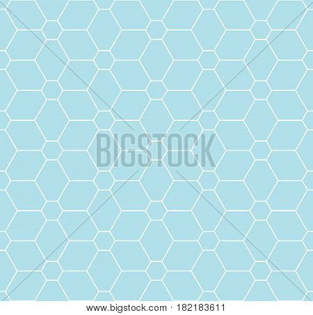 Geometric Grid Graphic Deco Floral Pattern Print