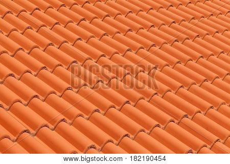 New roof tiles. Close up roof detail