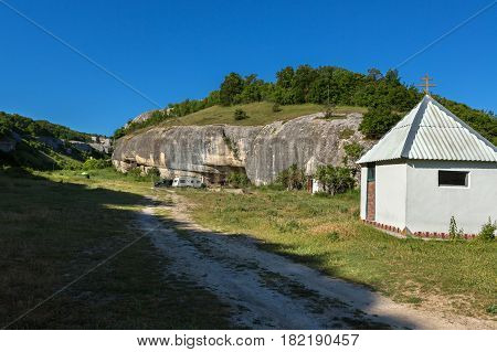 Chapel at Cave City in the Cherkez-Kermen Valley, Crimea