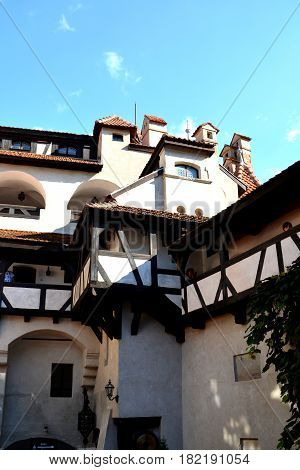 Bran castle, home of Dracula, Brasov, Transylvania, Romania. The medieval Bran Castle, which was once besieged by Vlad the Impaler, is a popular tourist destination, partly because it resembles the home of Dracula in Bram Stoke s famous novel.