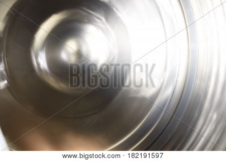 Rotating Wheel. Rotating Mechanism, Photographed On A Long Exposure