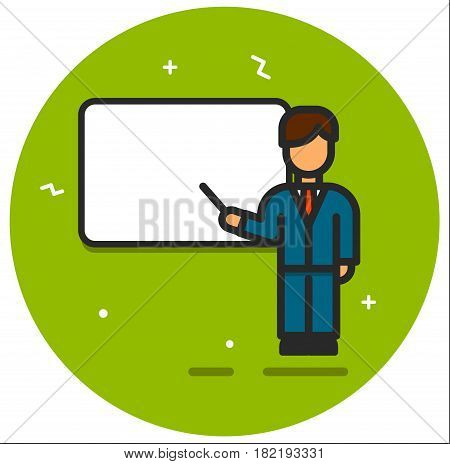 The business seminar and presentation illustration vector