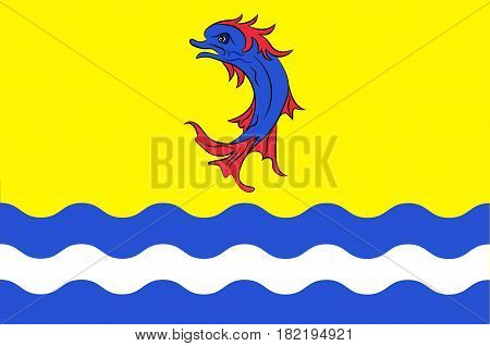 Flag of Drome is a department in southeastern France. Vector illustration