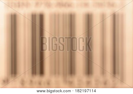 The barcode is out of focus. Encrypted data about the product, the manufacturer.