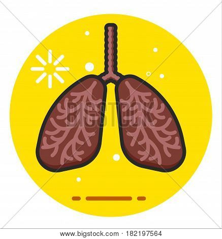 Lungs Human Smoker icon illustration design rasterized