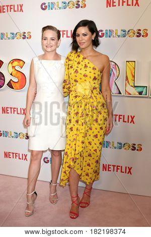 LOS ANGELES - APR 17:  Britt Robertson, Sophia Amoruso at the