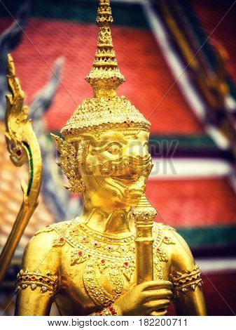 Grand palace Garuda Wat Phra Kaew Bangkok Thailand