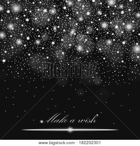 Glitter Particles Background Effect For Luxury Greeting Rich Card. Sparkling Texture. Star Dust Spar