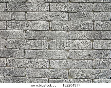 New Gray Brick Wall Texture Grunge Background