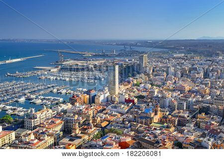 Spain. Hot Sunny day in the city of alicante