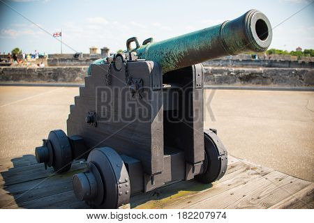 canons and flags at st. augustine florida