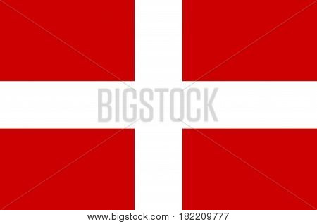 Flag of Haute-Savoie is a department in the Auvergne-Rhone-Alpes region of south-eastern France. Vector illustration